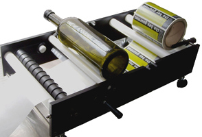Olive Oil bottle label applicator